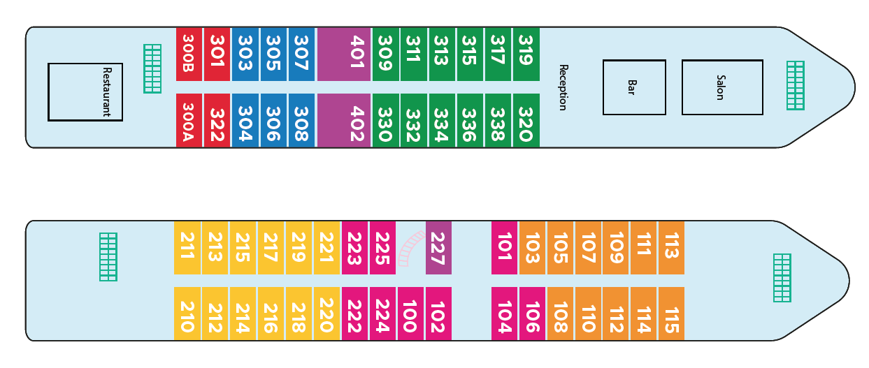 Map of the deck plan
